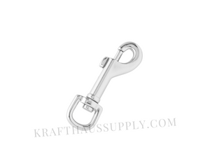 "3/8"" (9mm) Silver Bolt-Style Swivel Snaphook"