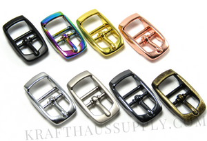 1.5 inch (38mm) Yellow Gold Double Bar Pin Buckle