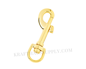 "5/8"" (16mm) Yellow Gold Bolt-Style Swivel Snaphook"