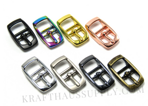 1 inch (26mm) Pearl Silver Double Bar Pin Buckle