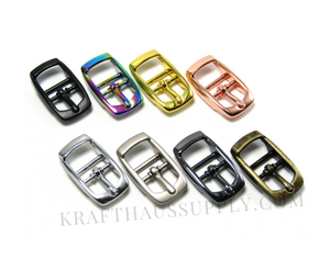 5/8 inch (16mm) Yellow Gold Double Bar Pin Buckle