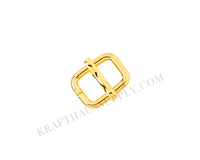"""3/8"""" (9mm) Yellow Gold Adjuster/TriGlide with Movable Bar"""