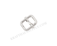 """3/8"""" (9mm) Silver Adjuster/TriGlide with Movable Bar"""