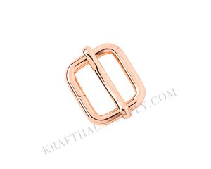 "5/8"" (16mm) Rose Gold Adjuster/TriGlide with Movable Bar"