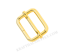 "Load image into Gallery viewer, 1"" (25mm) Yellow Gold Adjuster with Movable Bar"
