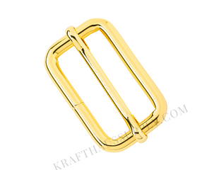 "1.5"" (38mm) Yellow Gold Adjuster with Movable Bar"