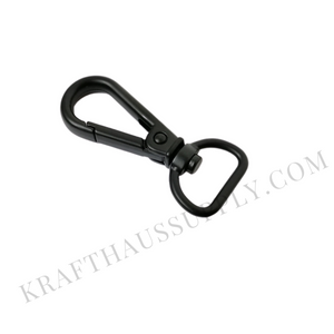 "5/8"" (16mm) Matte Black Push Gate Swivel Snaphook"