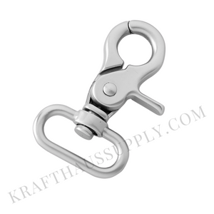 "1"" (26mm) Pearl Silver Trigger Snap hook"