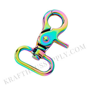 "1"" (26mm) Rainbow NeoChrome Trigger Snap hook"