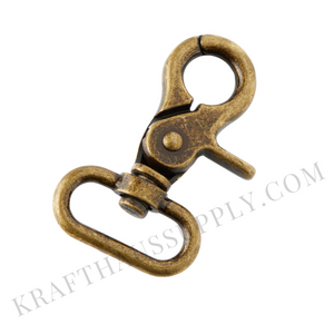 "1"" (26mm) Antique Brass Trigger Snap hook"