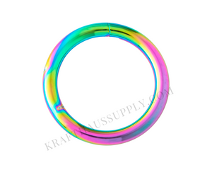 "1"" (25mm) Rainbow NeoChrome Welded O-Ring (4mm gauge)"
