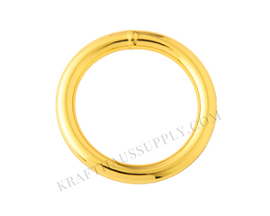 "1"" (25mm) Yellow Gold Welded O-Ring (4mm gauge)"
