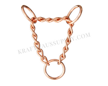 "Load image into Gallery viewer, 1"" (25mm) Rose Gold Chain Martingale Hardware"