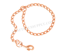 "Load image into Gallery viewer, Rose Gold Chain Leash Hardware (1"" dia, 32"" long)"