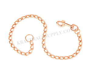 "Rose Gold Chain Leash Hardware (1"" dia, 32"" long)"