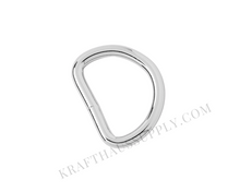 Load image into Gallery viewer, 1 inch (25mm) Silver Welded D-Ring