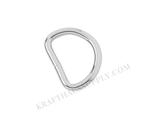 1 inch (25mm) Silver Welded D-Ring