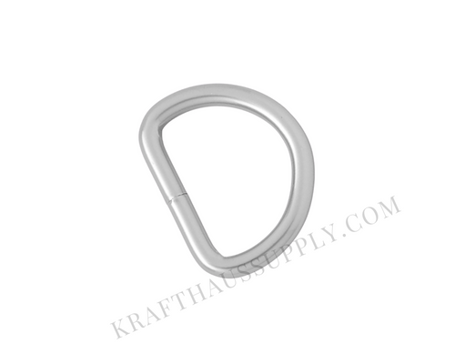 1 inch (25mm) Pearl Silver Welded D-Ring