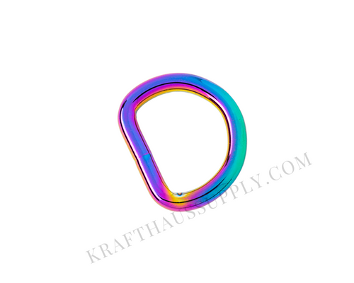 1 inch (25mm) Rainbow Welded D-Ring