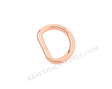 Load image into Gallery viewer, 3/4 inch (20mm) Rose Gold Welded D-Ring