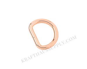 3/4 inch (20mm) Rose Gold Welded D-Ring