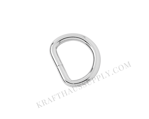 3/4 inch (20mm) Silver Welded D-Ring