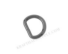 Load image into Gallery viewer, 3/4 inch (20mm) Gunmetal Welded D-Ring