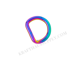3/4 inch (20mm) Rainbow Welded D-Ring