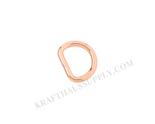 Load image into Gallery viewer, 5/8 inch (16mm) Rose Gold Welded D-Ring