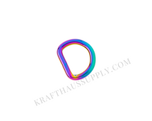 Load image into Gallery viewer, 5/8 inch (16mm) Rainbow Welded D-Ring