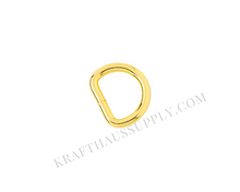 Load image into Gallery viewer, 5/8 inch (16mm) Yellow Gold Welded D-Ring