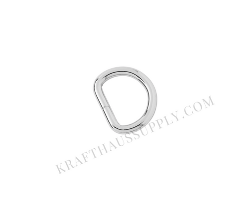 5/8 inch (16mm) Silver Welded D-Ring