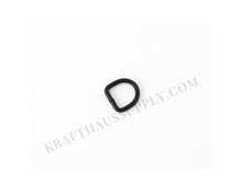 Load image into Gallery viewer, 3/8 inch (9mm) Matte Black Welded D-Rings