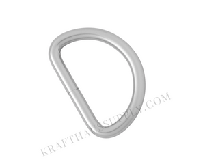 1.5 inch (38mm) Pearl Silver Welded D-Ring