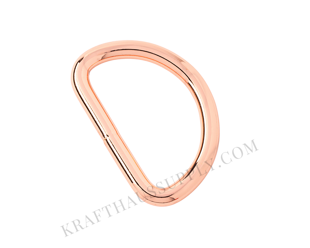 1.5 inch (38mm) Rose Gold Welded D-Ring