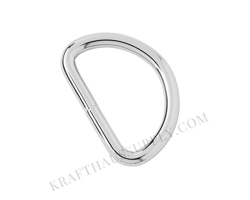 1.5 inch (38mm) Silver Welded D-Ring