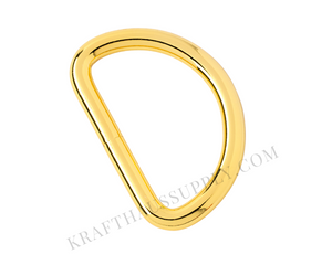 2 inch (51mm) Yellow Gold Welded D-Ring