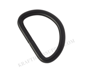 2 inch (51mm) Matte Black Welded D-Ring