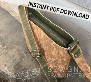 Mini Box Tote PDF Digital Sewing Pattern by SEWGNAR