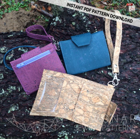 Key Fob Wallet PDF Digital Sewing Pattern by SEWGNAR