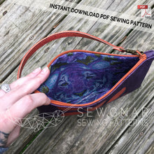 Load image into Gallery viewer, Wristlet Clutch PDF Digital Sewing Pattern by SEWGNAR