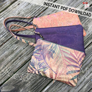 Wristlet Clutch PDF Digital Sewing Pattern by SEWGNAR
