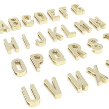 "Load image into Gallery viewer, Alphabet Slide Charms-3/4"" (20mm) opening (Rose Gold, Light Gold, and Silver!)"