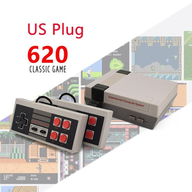 Retro Game Console With Built-In 500/620 Games