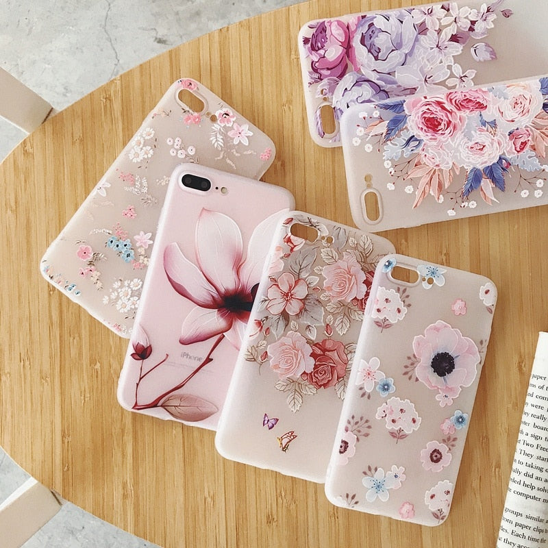 3D Floral iPhone Case