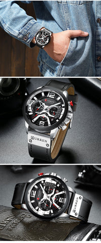 Men's Luxury Leather Watch
