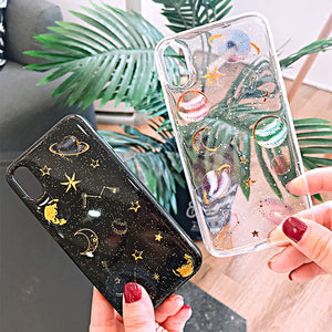 Space & Planet Pattern iPhone Case