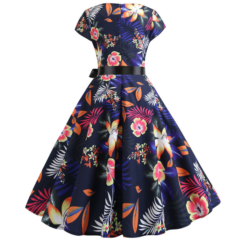 Womens Music Note Print Vintage Dress