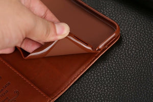 Leather iPhone Wallet Flip Case