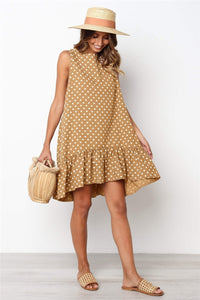 Women's Polka Dot Ruffle Dress